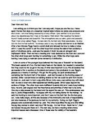 lord of the flies letter from ralph gcse english marked by  page 1