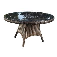 nevada round wicker dining table