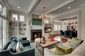 Modern Traditional Sitting Room Fireplace DMA Homes 61148
