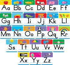 capital and lowercase letters charts