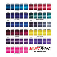 Manic Panic Hair Colour Chart Manic Panic Professional Color