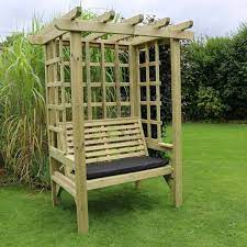 croft beatrice 2 seat garden arbour