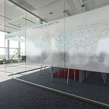 Amazon Com World Map Blue Lines Modern Office Meeting Room
