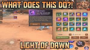 light of dawn what does it do legendary items crusaders of light