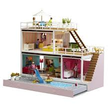 mid century modern doll house. love this.