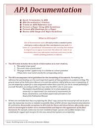Apa Documentation Citation Apa Style