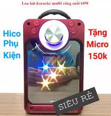 Loa Không Dây & Loa Bluetooth ) ComBo Loa Bluetooth Di Động MN 03 Âm Thanh  Cực