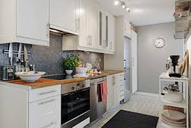 Kitchen For Small Apartments Apartment Wonderful Small Apartment Kitchen With Black Stools