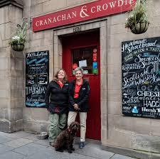unique scottish gifts cranachan crow fiona beth and caley outside cranachan crow