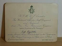 British Army Memorabilia, The Sherwood Foresters, 1936 Invitation to Alma  Ball | eBay