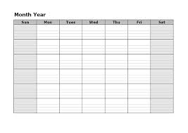Microsoft Word Blank Monthly Calendar Template Mesmerizing In