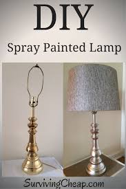 Painting Glass Lamps How To Step Buy Step Guide To Diy Refurbish A Metal Lamp With