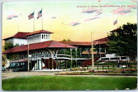 oklahoma city okc postcard entrance to delmar gardens amusement park c1910s hippostcard