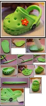 Croc Shoe Decorations 17 Best Ideas About Fondant Shoe Tutorial On Pinterest Fondant