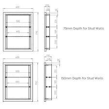 roper rhodes scheme 640mm recessible mirror cabinet specification