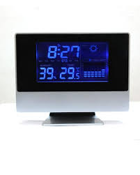 alarm clock with blue light temperature and humidity sensor