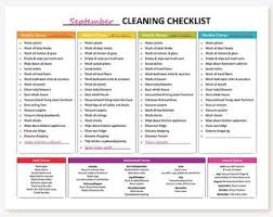Printable Master House Cleaning List Cleaning Checklist