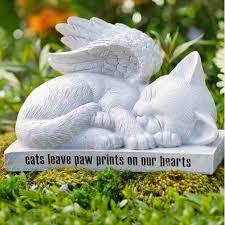 cat angel memorial statue memorial