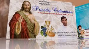 Ordination Invitation Template Priestly Ordination Cards 2016 Kristu Jyoti College