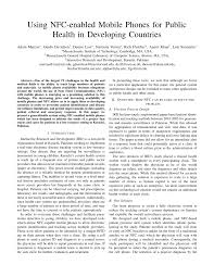pdf using nfc enabled mobile phones for public health in developing countries