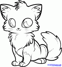 Coloring Page How To Draw An Anime Fox Step By Step Anime Animals