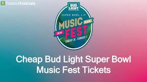 Bud Light Super Bowl Music Festival Discount Bud Light Super Bowl Music Fest 2020 Tickets By