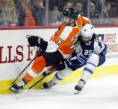 flyers nhl nhl capsules flyers overcome patrick laines 40th beat jets 2 1