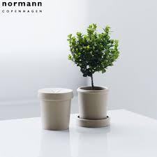 Normann Copenhagen - Cream Small Flower Pot (Set of 2)