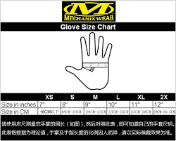 Mechanix Wear Glove Size Chart Mechanix M Pact Mpt Glove Seal Special Forces Tactical