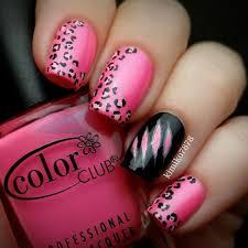 50 Beautiful Pink And Black Nail Designs 2017