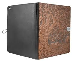Leather iPad Pro 12.9 Cover | Tree of Life 2 Colors Covers, Cases Oberon Design