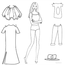 Small Picture Fancy Paper Doll Coloring Pages 47 On Free Coloring Book with