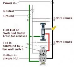 switch and outlet wiring how to wire a switched outlet half hot outlet