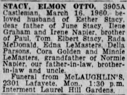 Elmon Otto Stacy obituary - Newspapers.com
