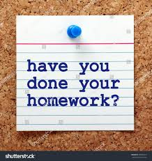words have you done your homework stock photo shutterstock the words have you done your homework in blue text on a note card pinned to