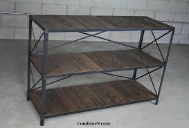 custom made reclaimed wood shelving unit rustic bookcase industrial style shelf custom sizes