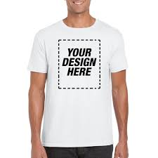 Design Your Own T Shirt Gildan Gildan Custom Personalized T Shirt With Your Own Design Full Color No Minimums White 2xl