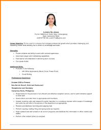 Resume Sample Objectives Example of objective for resume templates examples objectives easy 1