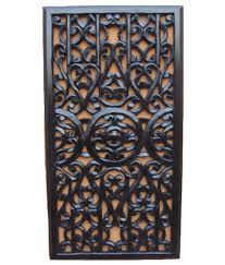 century art india black wooden wall panel