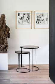 set of 2 round side tables by notre monde nesting high