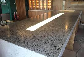 polished concrete counter brought to true shine sealed with an impregnating seal