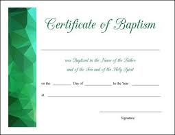 Fake Baptismal Certificate Free Printable Baptism First Communion And Confirmation