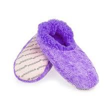 Snoozies Womens Solid Chenille Snoozies