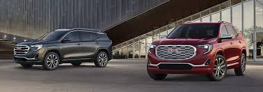 2018 gmc terrain pictures. modren pictures image of two allnew 2018 terrain small suvs with red and grey exteriors and gmc terrain pictures d