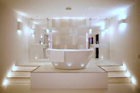 lighting ideas. this futuristic and minimalist bathroom has one of the best lighting systems we have seen lately ideas n