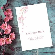 How To Make A Save The Date Card Cherry Blossom Save The Date Card