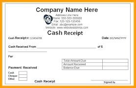 Sample Receipt Form Of Inspirational In Doc Best Cash