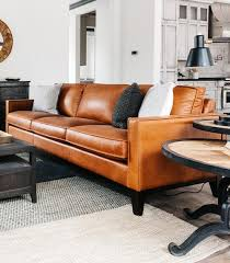 orange living room furniture. Paladin Leather Sofa Orange Living Room Furniture