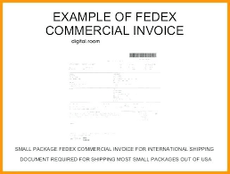 Fedex Commercial Invoice Template Also Mercial Invoice Blank