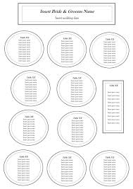 Blank Wedding Seating Chart Template Example 948